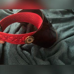 Hot Girl! Celeb style Red Oversized Sun Visor Cap